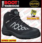Oliver Work Boots, 34621, Steel Toe Safety. 'Black' Lace-Up Ankle Jogger. New!