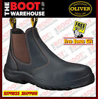 Oliver Work Boots, 34626, Steel Toe Safety. 'Claret' Elastic Sided. Brand New!