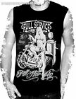 BIKER,MOTORCYCLE,FILL HER UP PIN UP GIRL,ROCKABILLY, MENS VEST/MUSCLE TOP,S-XXL