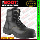 """Oliver Work Boots 55245, 150mm (6""""), Lace-Up 'Black', Steel Toe Cap Safety. New!"""
