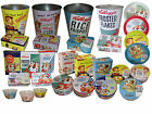 RETRO KELLOGGS CORNFLAKES FROSTED FLAKES CEREAL TRAY BOWL CAKE BISCUIT TINS BINS