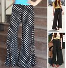 New Palazzo Pants Slacks Split Skirt Polka dot Palazzo Pants XS ~ 3XL
