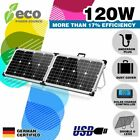 120W 12V FOLDING SOLAR PANEL KIT MONO CAMPING POWER SOURCE CHARGE NEW
