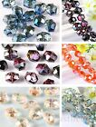 10/50pcsCharms Faceted Glass Crystal Hexagon Findings Spacer Beads  12*14MM