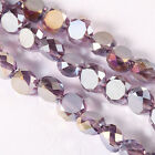 70pcs diamond purpleshining bright Beads Faceted Glass Crystal Spacer Bead N8688