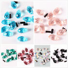 20pcs/140pcs Glass Crystal Spacer Beads waterdrop bright colorful 8692-8698