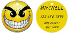 Personalized Custom Pet Dog Cat Tag ID 2 sided Mean angry Smiley Face Funny