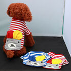 Pet Puppy Cute Dog Doggie Bear Striped Warm Clothes Apparel Costume Top T Shirt