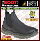 Mongrel 240020A Work Boots. Steel Toe Safety, Black, Elastic Sided, FULLY LINED!