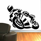 SUPERBIKE RACING SUPER BIKE vinyl wall art room sticker decal CHILDRENS ROOM