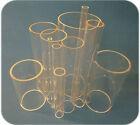 5mm - 90mm DIA (100mm SAMPLE length) Clear Acrylic TUBE Plastic MULTI - LISTING
