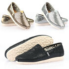 New Paperplanes Shiny Bling Flat Casual Comfort Womens Slip On Shoes