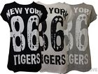 New Laides Plus Size 86 New York Tigers Printed T-shirts Tee Tops 16-26