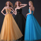 Sweetheart Sequin Evening Formal Prom BallGown Party Cocktail Bridesmaid Dresses