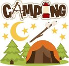 Camping SET of Scrapbook Die Cuts Embellishment Paper Piecing Cards
