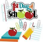 Back To School SET of Scrapbook die cuts Embellishment Paper Piecing Cards