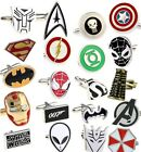 Superhero Super Hero Cufflinks Stainless Steel Wedding New *FREE P&P UK SELLER*
