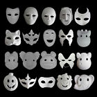 Unpainted Plain/Blank Animal Version Paper Pulp Face Mask DIY Masque Party +Rope