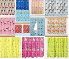 NEW CHILDRENS FLORAL NOVELTY FOOTBALL CHARACTER CURTAINS BOYS OR GIRLS PINK BLUE image
