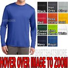 Внешний вид - Mens Long Sleeve T-shirt Dry Zone Performance Moisture Wicking Gym S- 2X 3X, 4X