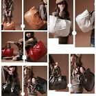 Korea Women Shining Stone Grain PU Leather Handbag Shoulder Bag Hobo Bag Tote