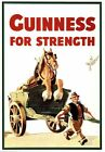 Vintage Guinness For Strength Advertisement Poster A3/A2 Print