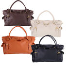 Lady OL Fashion PU Leather Big Capacity Handbag Tote Shoulder Bag 4 Colors