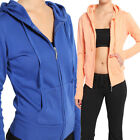 MOGAN Zip Up HOODED JACKET Basic Cozy Cotton Fitness Sweatshirts