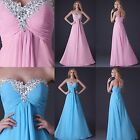 Sweetheart Beaded Party Prom Evening Dresses Formal Bridesmaids Bridal Gown New