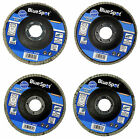 "FLAP DISCS 115mm SANDING 40 60 80 120 GRIT GRINDING WHEELS BLUE SPOT 4.5"" MIXED"