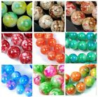 """8mm Baking Varnish Glass Round Beads 16"""" - choose color"""