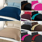 Linens Limited Plain Reversible Duvet Cover Set