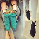 US5-9 Strappy Casual Kitten Shoes fashion ladiess pointed toe shoes  [JG]