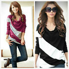 Women lady's Batwing Top Dolman Lace Loose T-Shirt Blouse Long  Sleeve tops