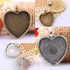 Retro Heart Shaped Picture Photo Frame Charm Pendant Beads Tibetan Silver/Bronze