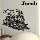 Train Wall Stickers Art Kids Nursery Room Optional Custom Personalised Name