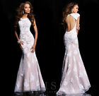 Hot sale Bridal Wedding Dresses Prom Gown Evening dress Custom Size Lace Train