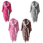 Terry Polka Dots Frilled Hooded Bath Robe