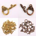 Wholesale Antiqued Gold/Copper Tone Floral Toggle Clasps Rings Crafts Findings