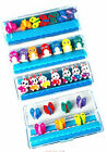 7 Mini erasers rubbers in clear plastic lid and box 3 styles FREE POSTAGE