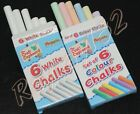 1    20 packs of 6 chalks colour or plain white chalk FREE POST Over 3100+ sold