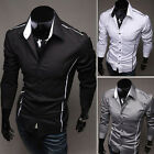 Luxury Men's Slim Fit Stylish Dress Shirts Casual shirts Tops 3   Colors 5 Sizes