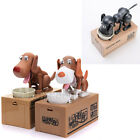Robotic Dog Puppy Hungry Hound Bank Coin Eating Save Money Box Stopper Kids Gift
