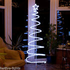 6FT LED PRE-LIT OUTDOOR BEADED SPIRAL SILHOUETTE DECORATION CHRISTMAS XMAS TREE