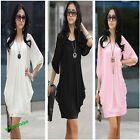 New Fashion Sexy Lady Graceful Black/White New Cocktail Women's Chiffon Dress
