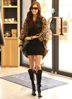 Women lady Leopard Chiffon shawl Batwing Sleeve Casual Blouse   Cardigan Shirt Top