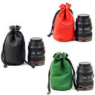 DSLR Waterproof Padded Leather Camera Lens Bag Pouch Case Canon Sony 18-135mm