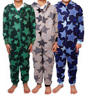 Boys Kids Childrens Onesie Fleece All In One Jumpsuit Hooded Playsuit Onesies