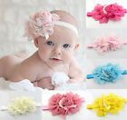 Fashion Baby Girl Toddler Elastic Flower Headband Hairband Hair Flower Band