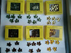 YOUR CHOICE, Leaf Shape Acrylic Gems, 30 pc., Red, Green, Gold, Yellow, New